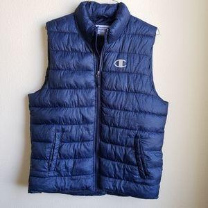 Champion Puffer Vest Size L Blue